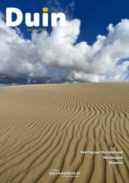 Natuurfoto van stuifduinen op de cover van Tijdschrift Duin. Door natuurfotograaf Ronald van Wijk.