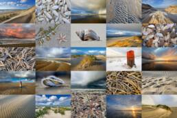 Fotocollage van het Nederlandse strand. Te koop als digitaal bestand voor thuis of op de zaak. Geschikt voor fotoafdrukken op canvas, aluminum, fotobehang en nog veel meer.